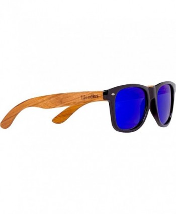 WOODIES Zebra Wood Sunglasses Mirror