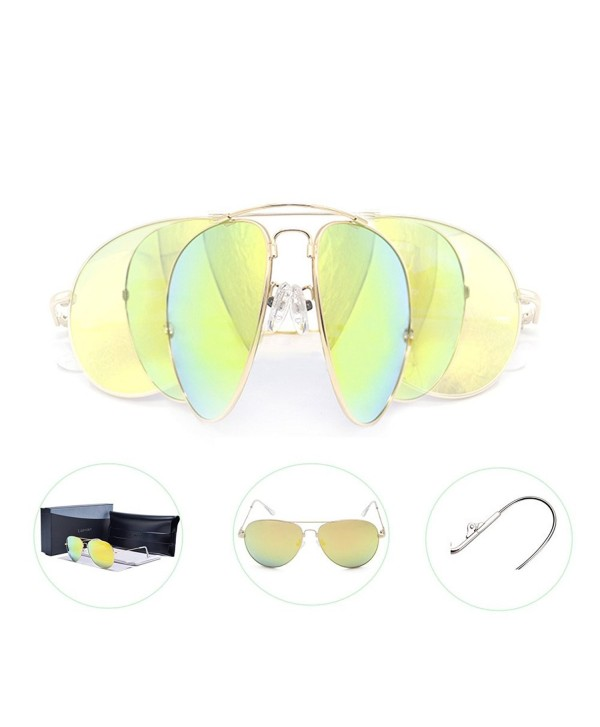 Polarized Sunglasses Oversize Mirrored Aviator Lomiss