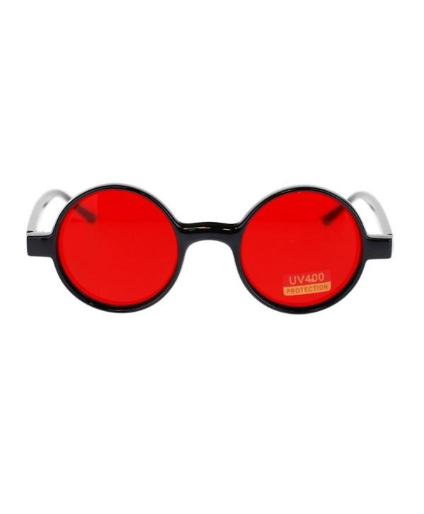 Classic Circle Plastic Hippie Sunglasses