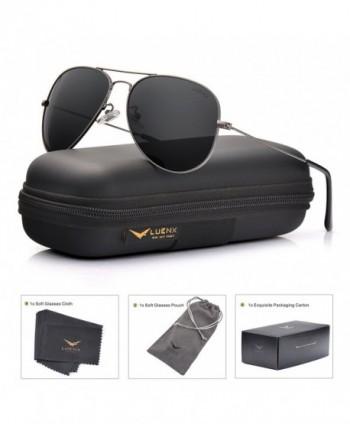 LUENX Aviator Sunglasses Polarized Non Mirrored