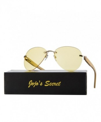 JOJOS SECRET Aviator Sunglasses Yellow