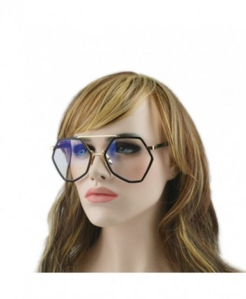 Geometric Sunglasses Oversize Suglasses black clear