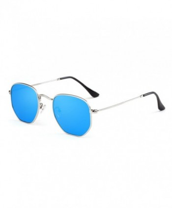 AIMADE Hexagonal Polarized Sunglasses silverblue