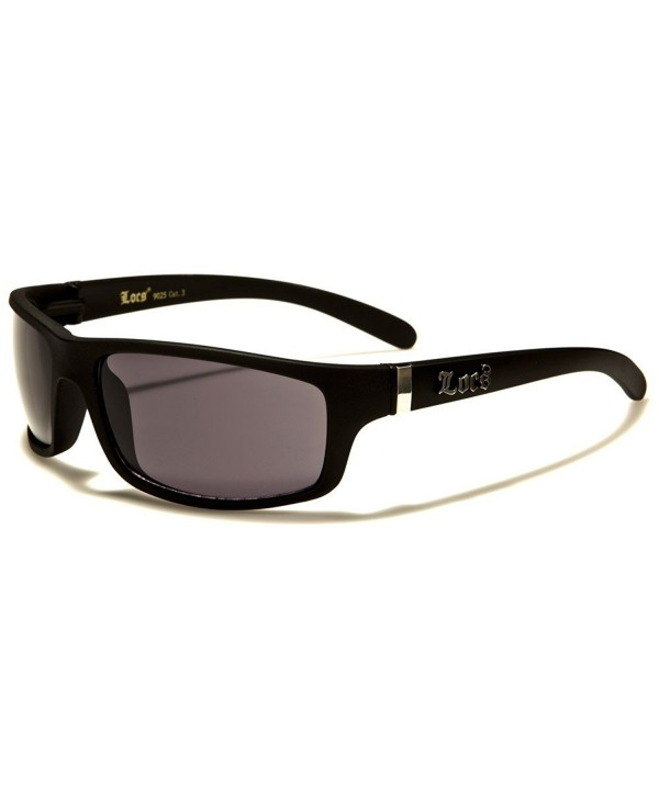 Locs Black Mens Rectangular Sunglasses