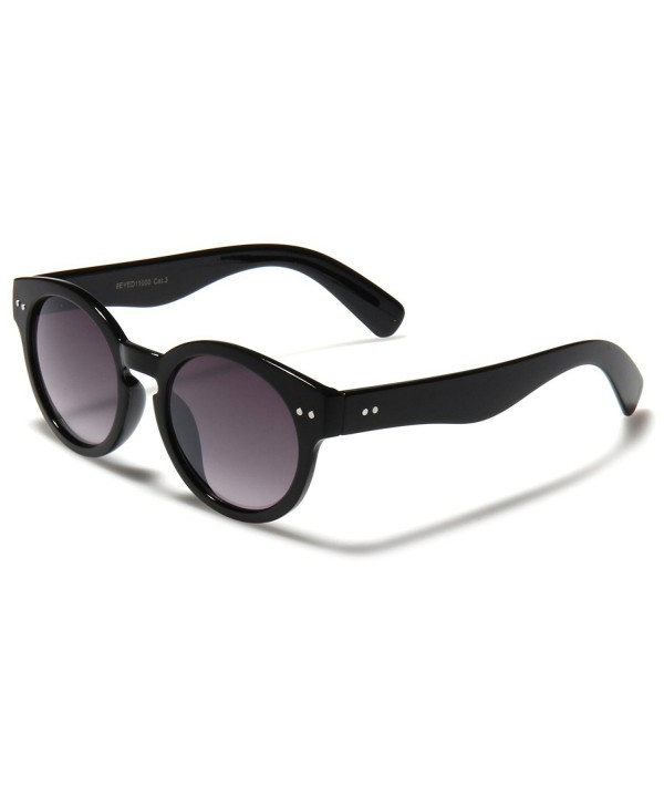 Round Retro Rimmed Sunglasses Small Medium