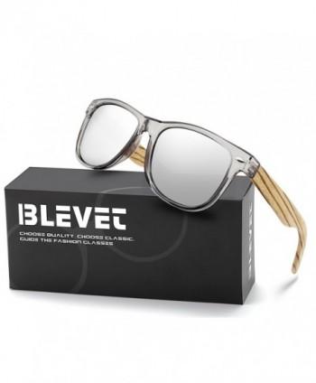 BLEVET Wooden Wayfarer Sunglasses Polarized