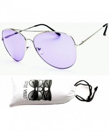 A67 vp Aviator Colored Sunglasses Silver Purple