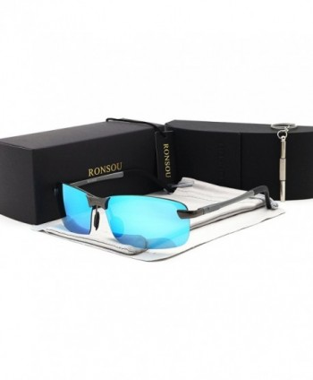 Rimless Aluminium Magnesium Polarized Sunglasses Mirrored