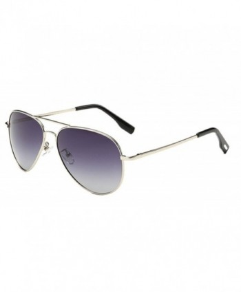 Classic Aviator Sunglasses Colored Silver