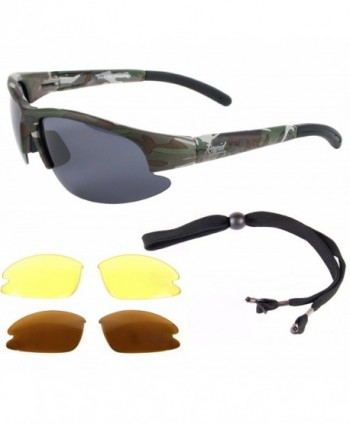 Camouflage Polarized Sunglasses Interchangeable Military