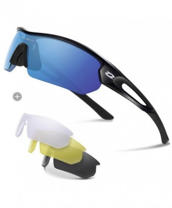 RIVBOS Polarized Sunglasses Interchangeable Baseball