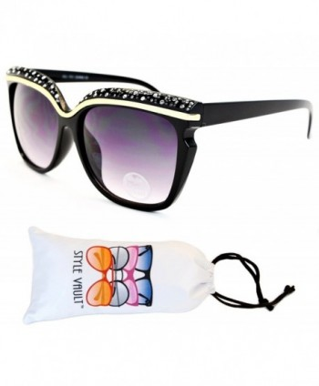 Style Vault Oversized Sunglasses Black Smoked