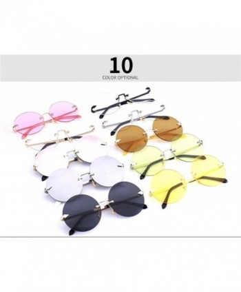 2628d3ace7 Oversized Arrow Rimless Round Sunglasses for Men and Women Frameless ...