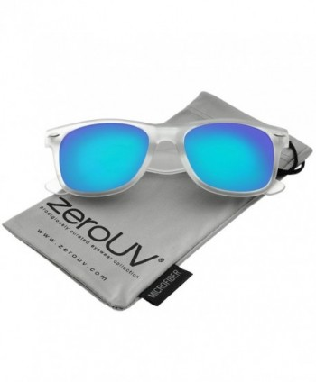 zeroUV Frosted Reflective Colored Sunglasses
