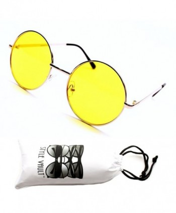 Style Vault Colorful Sunglasses Gold Yellow