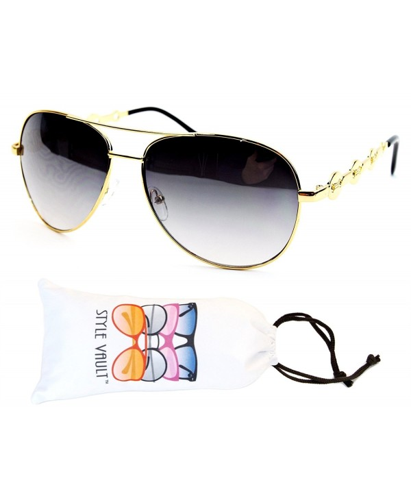 A139 vp Style Vault Sunglasses Gold Smoked