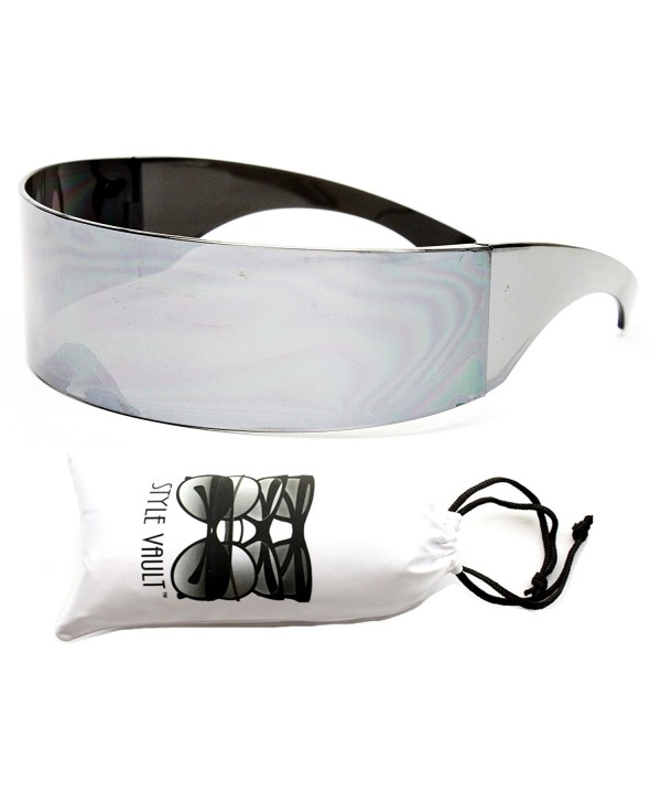 V138 vp Robocop Rimless Sunglasses Silver mirrored