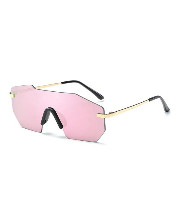 TIJN Rimless Shield Futuristic Sunglasses