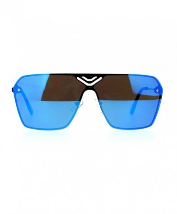 Rimless Fashion Sunglasses Futuristic Square