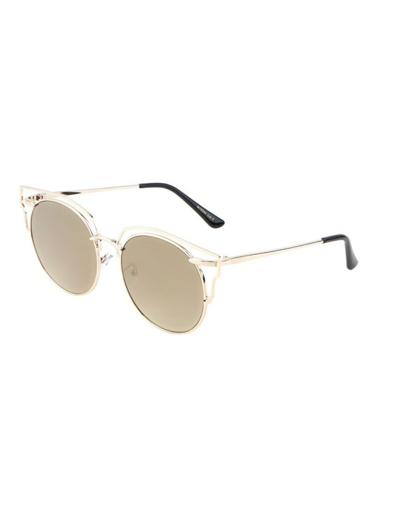 Glamour Wireframe Round Sunglasses with Outline Design Trending ...