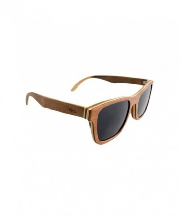 Miru Wood Wayfarer Sunglasses Polarized