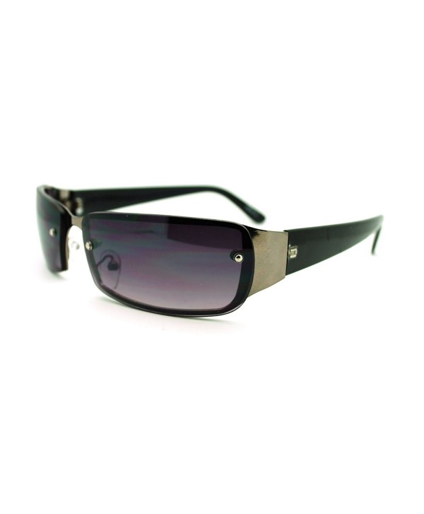 Narrow Rectangular Rimless Fashion Sunglasses