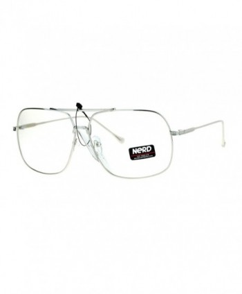 SA106 Oversize Rectangular Aviator Glasses