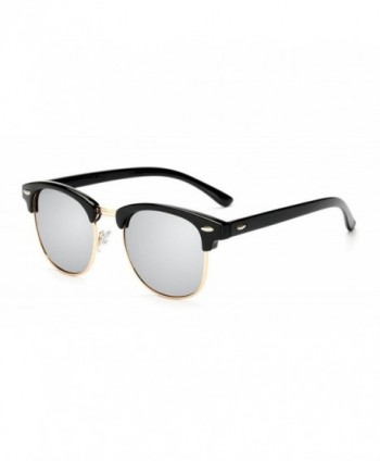 SightMax Polarized Classic Semi Rimless Sunglasses