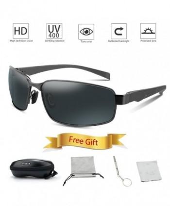 Unisex Polarized Sunglasses Rectangular Protection