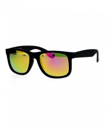 mirrored Rubberized horned Sunglasses Fuchsia