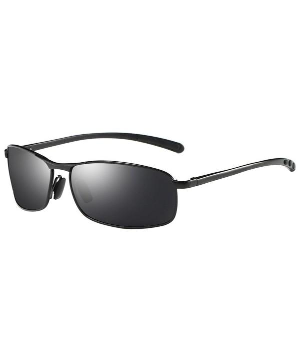 ZHILE Rectangular Polarized Sunglasses Temple