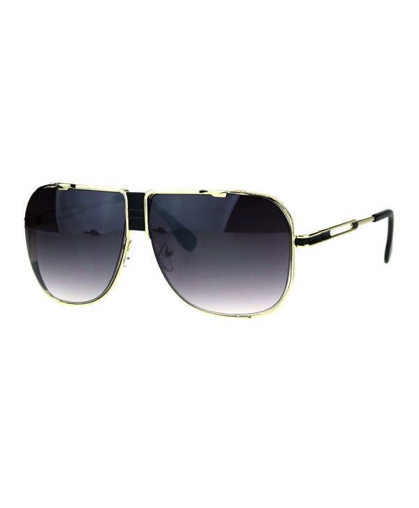 Mobster Luxury Oversize Aviator Sunglasses