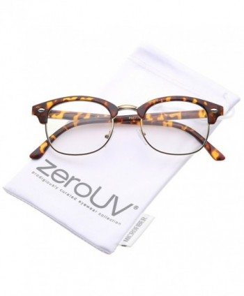 zeroUV Rimmed Bridge Eyeglasses Orange Tortoise