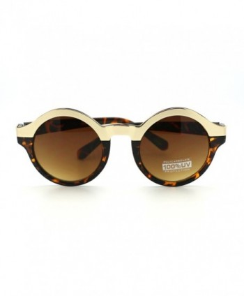 Unique Sunglasses Fashion Metallic Tortoise