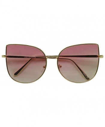 Oversized Pointed Butterfly Colored Sunglasses