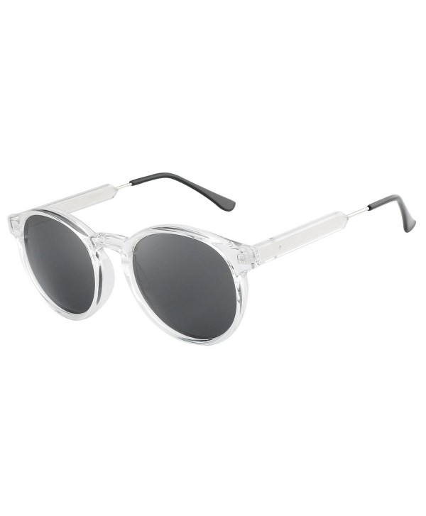 f5b26843686 ... Frame Sunglasses for Men Women HD2004 - Clear - CX17YCM599W. HDCRAFTER Classic  Vintage Circle Sunglasses