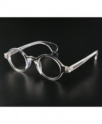 c25a4cae82 Small Round Eyeglasses Plain Glasses Frame Clear Lens 42mm - Clear ...