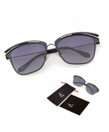 ADEWU Round Circle Semi Rimless Cateye Sunglasses
