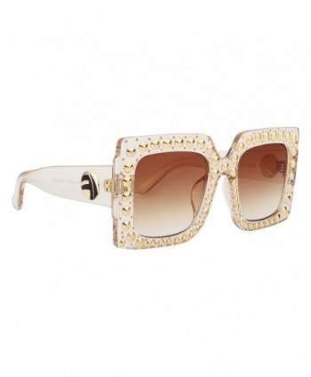 ROYAL GIRL Oversized Sunglasses Crystal Trim