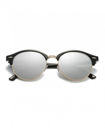 ZHILE Clubmaster Sunglasses Polarized mirrored