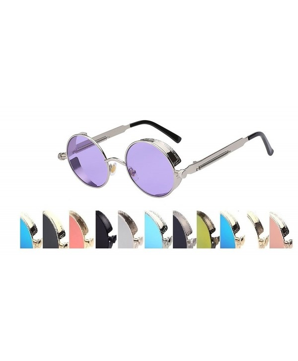 Steampunk Fashion Sunglasses Violet Silver