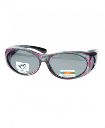 Womens Polarized Sunglasses Floral Pattern