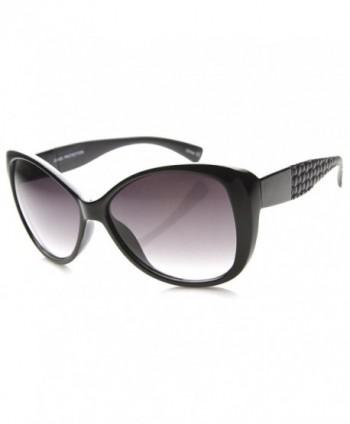 zeroUV Oversize Butterfly Sunglasses Black Black