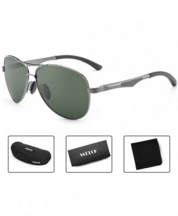 WELUK Sunglasses Polarized Military Mirrored