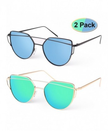 Elimoons Sunglasses Mirrored Polarized Fashion