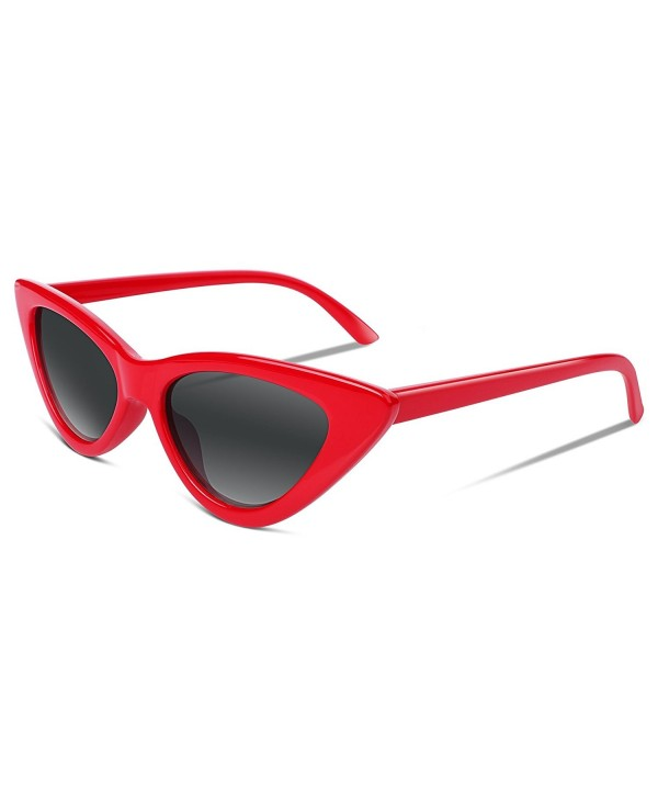 bd142212cd ... Retro Cat Eye Sunglasses Kurt Cobain Clout Goggles Triangle Frame B2248  - 11 Red - CC189QKWCIH. FEISEDY Sunglasses Cobain Goggles Triangle