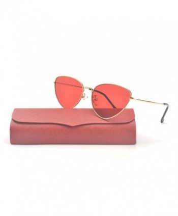 Fashion Vintage Colorful Sunglasses gold red