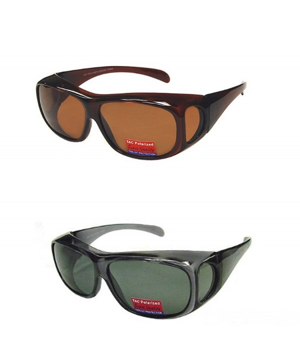1e92074b3fe4 ... Polarized Fit Over Wear Over Glasses Sunglasses Men and Women Large -  Black Brown - CK18732ZOKU. Pair Polarized Over Size Large