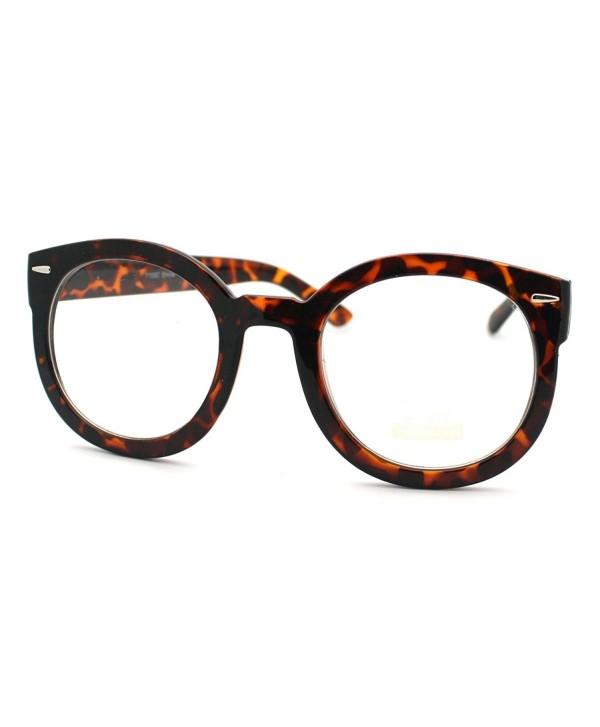 Tortoise Oversized Round Fashion Glasses