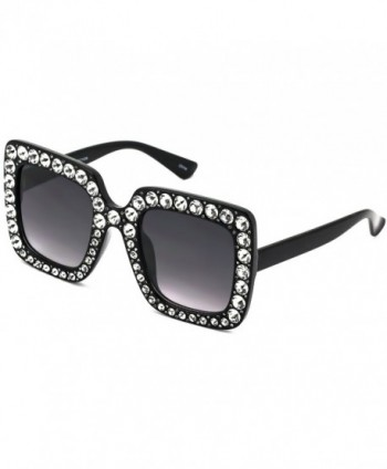 1ec23296723 Elite Oversized Rhinestone Designer Sunglasses  Square sunglasses  Women s  Sunglasses